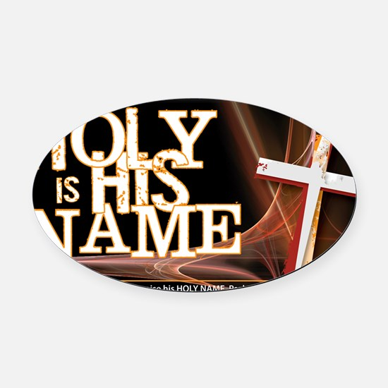 holy-name Oval Car Magnet