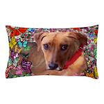 Trista Rescue Dog Butterflies Pillow Case