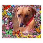 Trista Rescue Dog Butterflies King Duvet