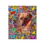 Trista Rescue Dog Butterflies Throw Blanket