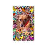 Trista Rescue Dog Butterflies 3'x5' Area Rug