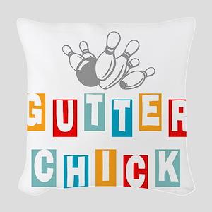 bowl99black Woven Throw Pillow