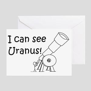 I can see Uranus! Greeting Card