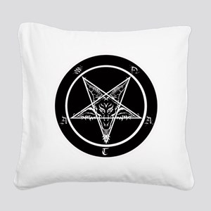 satan goat pentagram sigil of Square Canvas Pillow