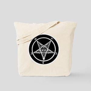 satan goat pentagram sigil of baphomet Tote Bag