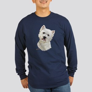 West Highland White Terrier Long Sleeve Dark T-Shi