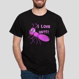 I love ants PINK Dark T-Shirt