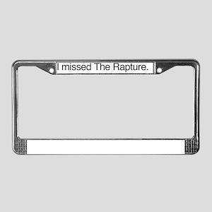 rapture2_bl_oblong License Plate Frame