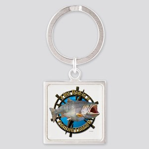 Dad the legend Square Keychain