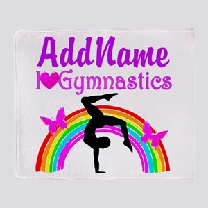 SUPER STAR GYMNAST Throw Blanket