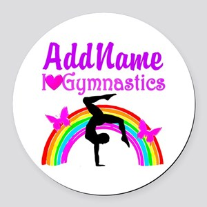 SUPER STAR GYMNAST Round Car Magnet