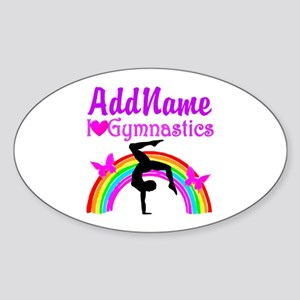 SUPER STAR GYMNAST Sticker (Oval)