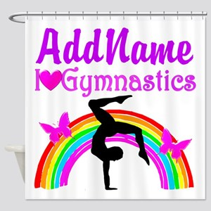 SUPER STAR GYMNAST Shower Curtain