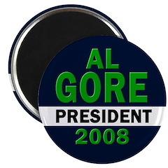 Al Gore: President 2008 Magnet