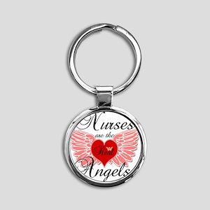 Nurses Angels copy Round Keychain