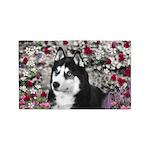 Irie Siberian Husky Flowers 3'x5' Area Rug
