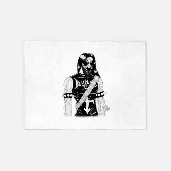 Black Metal 5'x7'Area Rug