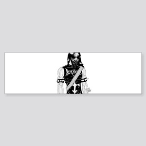 Black Metal Bumper Sticker