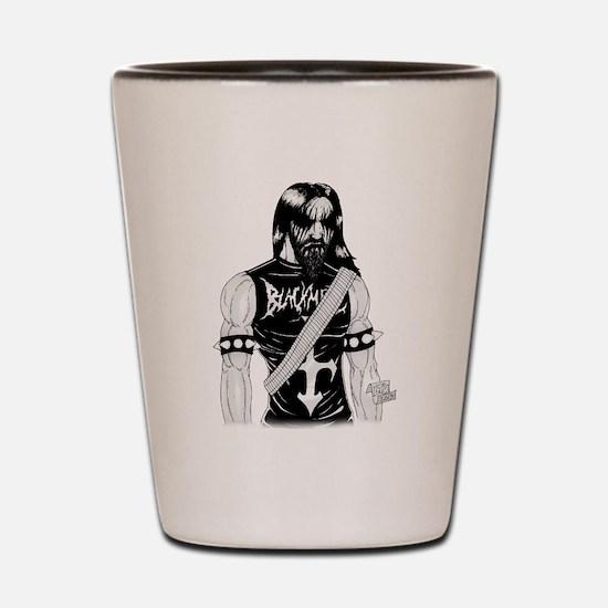 Black Metal Shot Glass