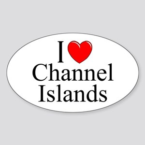"""I Love Channel Islands"" Oval Sticker"
