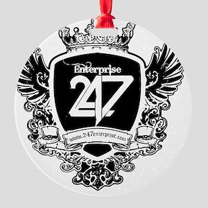 247SHIRT Logo Round Ornament