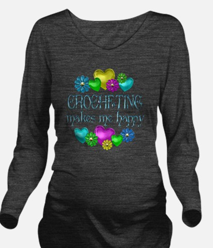 CROCHET Long Sleeve Maternity T-Shirt
