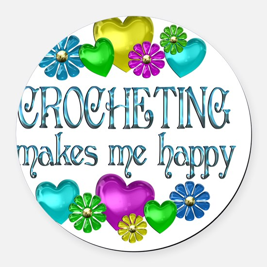 CROCHET Round Car Magnet
