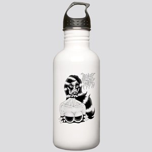 Sexy Black Metal Chick Water Bottle