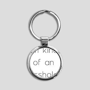 asshole Round Keychain