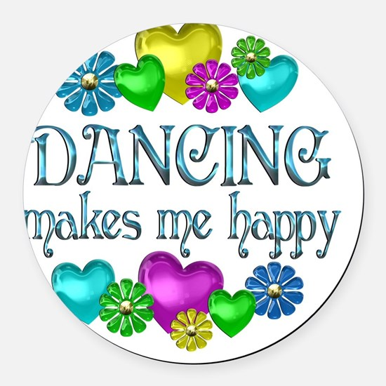 DANCING Round Car Magnet