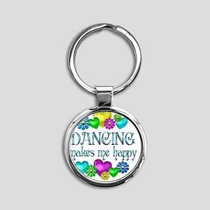 DANCING Round Keychain