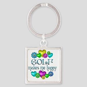 GOLF Square Keychain