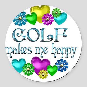 GOLF Round Car Magnet