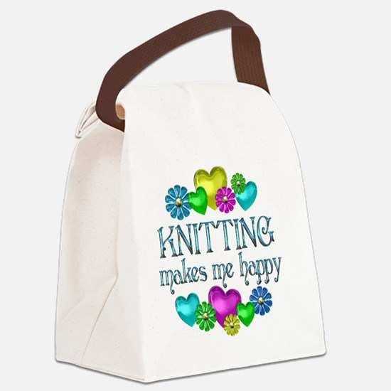 KNITTING Canvas Lunch Bag