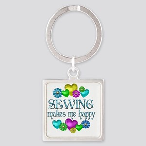 SEWING Square Keychain