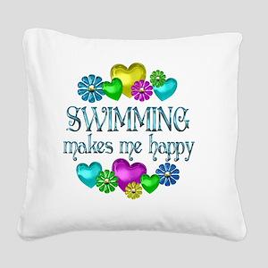 SWIM Square Canvas Pillow
