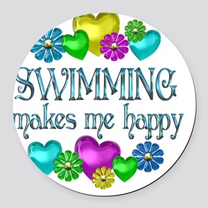 SWIM Round Car Magnet