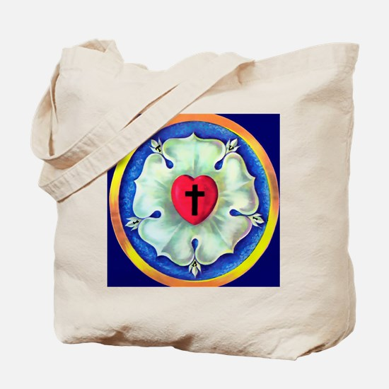 Luther Seal License Plate Tote Bag
