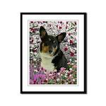 Sebastian Welsh Corgi Flowers Framed Panel Print