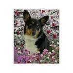 Sebastian Welsh Corgi Flowers Throw Blanket