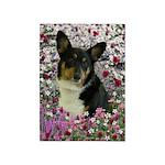 Sebastian Welsh Corgi Flowers 5'x7'Area Rug