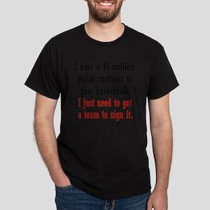 basketball-contract2 Dark T-Shirt