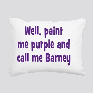 barney_rnd2 Rectangular Canvas Pillow
