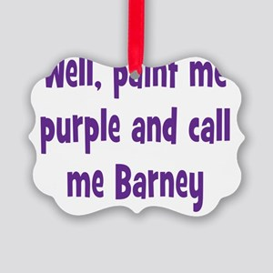 barney2 Picture Ornament