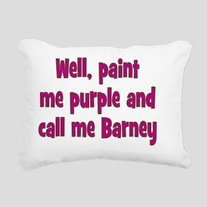 barney_rnd1 Rectangular Canvas Pillow