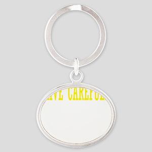 drive-carefully3 Oval Keychain