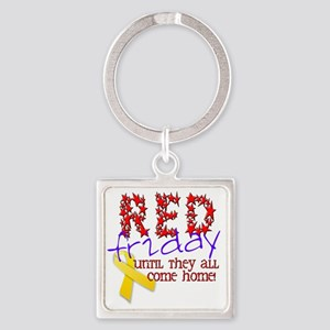 red friday Square Keychain