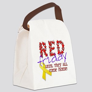 red friday Canvas Lunch Bag