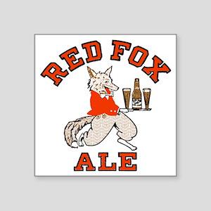 """redfoxalewh Square Sticker 3"""" x 3"""""""