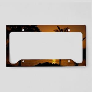 Grace Bay Sunset License Plate Holder
